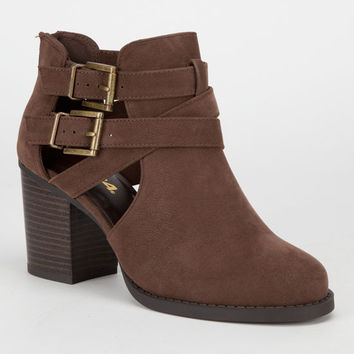 Soda Scribe Womens Booties Brown  In Sizes