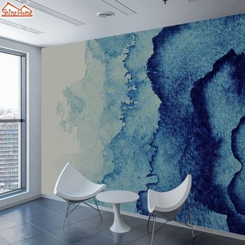 ShineHome-Custom Blue Marble Pattern Wallpaper for 3 d Living Room Wall Paper Mural Rolls Cafe Wallpapers TV Background Home