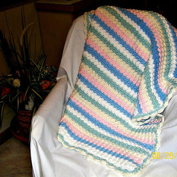 Crochet Baby Blanket, Handmade, Lap Blanket, Throw Blanket, Baby Bedding, Infant Blanket, Stroller Blanket, Swaddle Blanket, Baby Gift, Crib