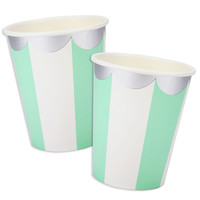 Mint Green Scallop Stripe Cups