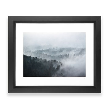 Society6 The Waves Framed Print