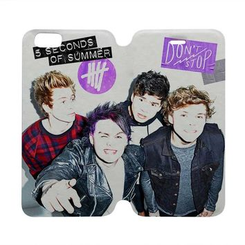 5 SECONDS OF SUMMER Wallet Case for iPhone 4/4S 5/5S/SE 5C 6/6S Plus Samsung Galaxy S4 S5 S6 Edge Note 3 4 5