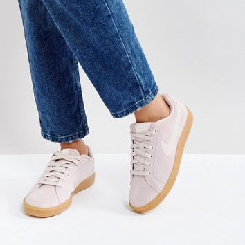 Nike Court Royale Suede Trainers In Pink at asos.com