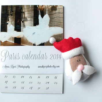 2014 calendar Paris calendar 2014 calender mini desk Paris photography christmas gifts french decor vintage style stendig calendar 4x6 5x7