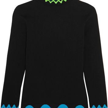 Peter Pilotto - Intarsia ribbed-knit turtleneck sweater
