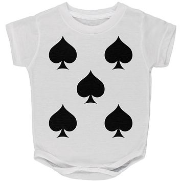 Halloween Five of Spades Card Soldier Costume All Over Baby One Piece