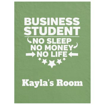 Business College Major No Sleep No Money Fleece Blanket