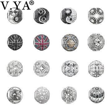 DIY Charms Beads fit Pandora Chain Necklace Bracelets a variety of Beads for Women Men