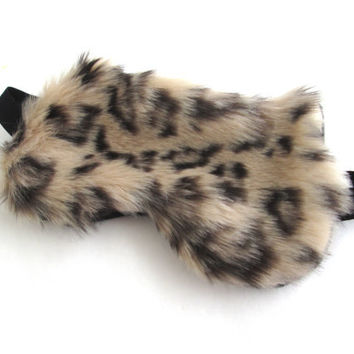 Furry Cat Sleep mask, Travel sleep mask, Kitty eye mask, Slumber Party Sleep Mask.
