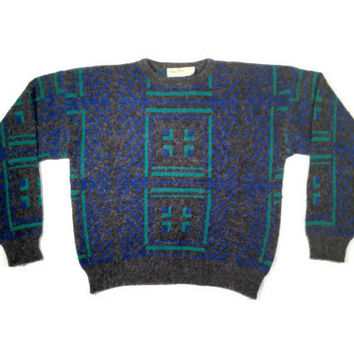 Vintage Sweater, Retro Sweater, 80s Sweater, Cosby Sweater, Geometric Sweater, Tribal Sweater // 80s Clothes, 90s Clothes, 90s Clothing
