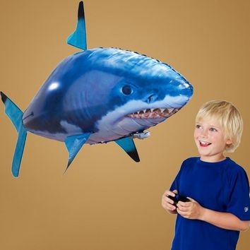 Enjoybay Remote Control Shark Toys Air Swimming Fish Infrared RC Flying Air Balloons Kids Toys Gifts Party Decoration Outdoor
