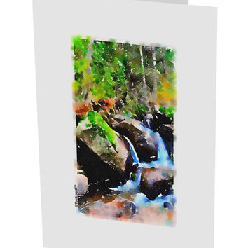 "Rockies River Watercolor 10 Pack of 5x7"" Side Fold Blank Greeting Cards"