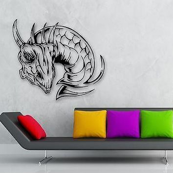 Wall Stickers Vinyl Decal Dragon Tale Fantasy Cool Kids Room Decor Unique Gift (ig801)