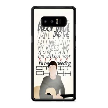 Shawn Mendes Lyrics 1 Samsung Galaxy Note 8 Case