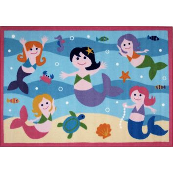 Mermaids Fun Kids Rug