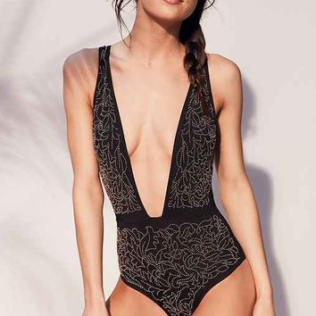 Beach Riot Gold Dust One-Piece Swimsuit