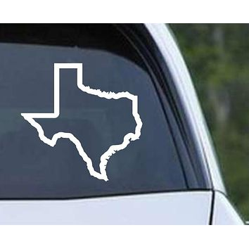 Texas State Outline Die Cut Vinyl Decal Sticker