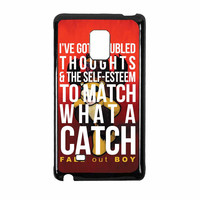 Fall Out Boy Watch A Catch Quote Samsung Galaxy Note Edge Case