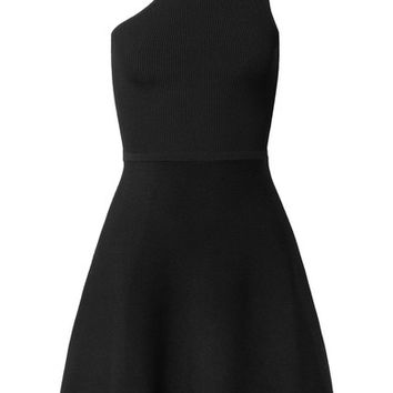 Cushnie et Ochs - Vika one-shoulder ribbed stretch-knit mini dress