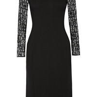 Jason Wu - Lace-paneled crepe dress