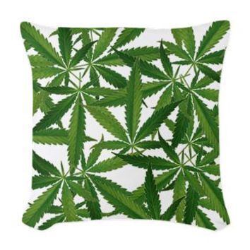 All Leaf Woven Throw Pillow> 420 Gear Stop