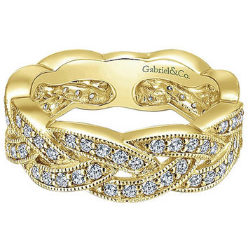 "Gabriel Intertwining ""Twist"" Diamond Right Hand Ring"