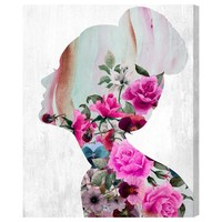 Flower Built Graphic Art on Wrapped Canvas