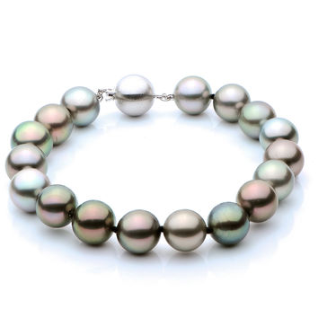 "7.5 Inch 9-11mm ""AAA"" Quality ""Multi-color"" Tahitian Pearl Bracelet"