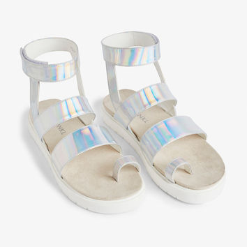 Faux leather sandals - Shine bae shine - Shoes - Monki GB