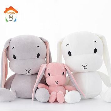 50/70 CM Cute Lucky Rabbit Dolls Plush Toys Soft Stuffed Animal Bunny Baby Kids Toy For Girl Friends Christmas Gift BF083