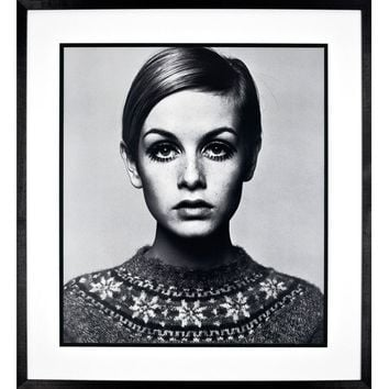 Buy Twiggy Framed Print, 75 x 83cm online at JohnLewis.com - John Lewis