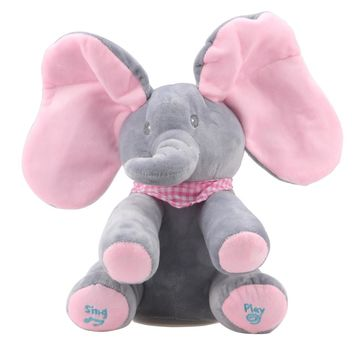 Baby Animated Elephant Plush Toy Electric Toy Doll Educational Toy