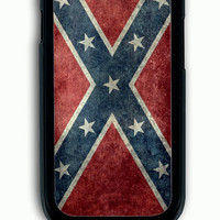 Samsung Galaxy S3 Case - Rubber (TPU) Cover with Confederate Rebel Flag Rubber Case Design