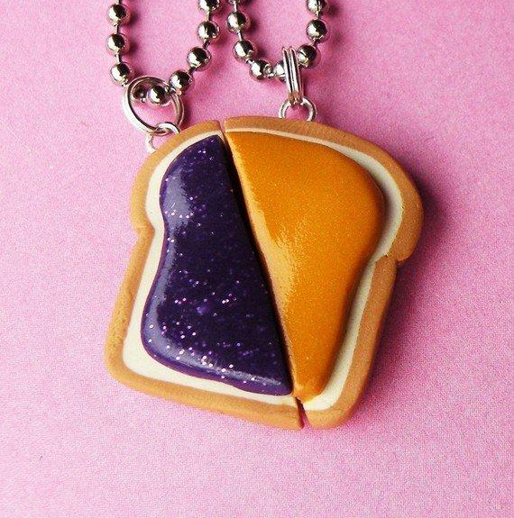 Peanut butter and jelly matching slice from babylovespink for Couples matching jewelry sets