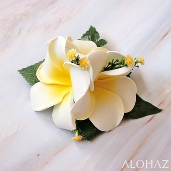 Plumeria Summer Hawaiian Flower Hair Clip