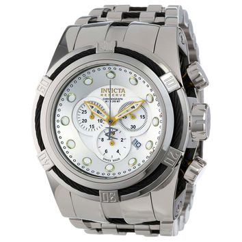 Invicta 14067 Mens Bolt Reserve Silver Dial Chronograph Stainless Steel Dive Watch