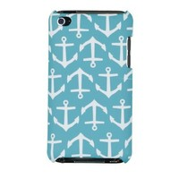 Nautical Anchor Embossed Hard Case for Apple iPod Touch 4, 4G (4th Generation) - Includes DandyCase Keychain Screen Cleaner [Retail Packaging by DandyCase]