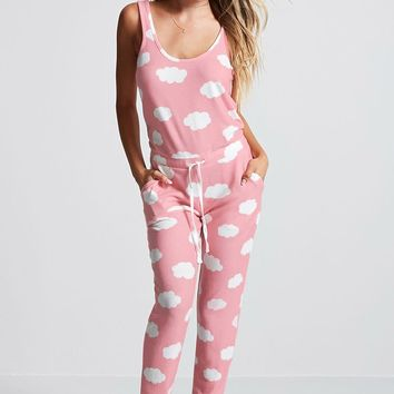 Cloud Print PJ Jumpsuit