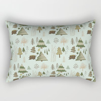 Winter Trees Rectangular Pillow by doucettedesigns
