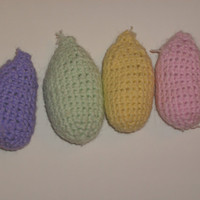 Handmade crocheted easter eggs set of 4 by CanadianCraftCritter