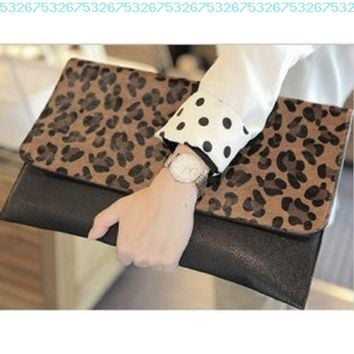 Women's Leopard Print Envelope Clutch