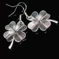 SALE Clover leaf charm earrings