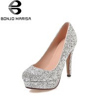 Shinning Glitter Upper High Heel