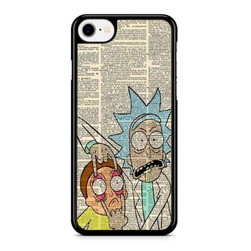 Rick And Morty Dictionary Art iPhone 8 Case