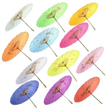 New Wedding Dance Party Retro Chinese Japanese Umbrella Art Decor Painted Parasol