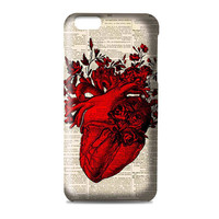 Anatomy Art Red Heart Artwork 3D Iphone | 4s | 5s | 5c | 6s | 6s Plus | Case