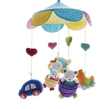 SHILOH Baby Newborn Crib Mobile Plush Canopy Toys without musical box or arm, Graden
