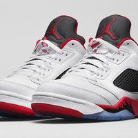 "Men's Nike Air Jordan 5 Retro Low ""Fire Red"""