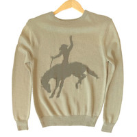 Ride 'Em Cowboy Bucking Bronco Tacky Ugly Sweater