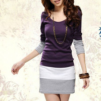 Elegant Slim Fit Long Sleeve Shirt/Dress